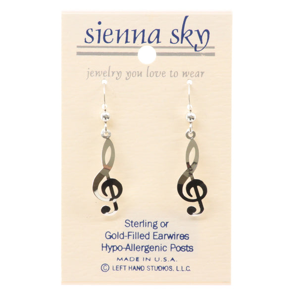 Sienna Sky Polished Treble Clef Earrings - ArtsiHome