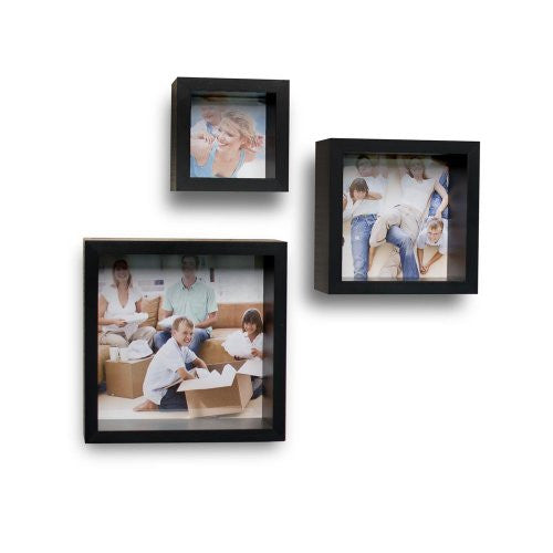 Photo Frame Wall Cube Shelves - Set of 3 - ArtsiHome
