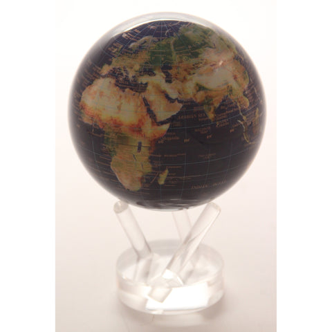 MOVA Globe - Satellite View with Gold Lettering - ArtsiHome