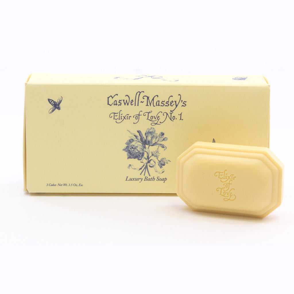 Caswell-Massey - Elixir Of Love No.1 Bath Soap Box Set (3) - ArtsiHome