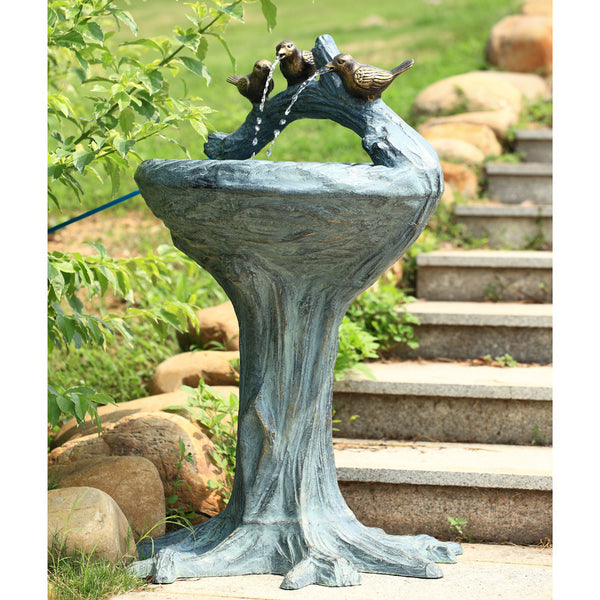 SPI Garden Collection Birds on Branch Fountain - ArtsiHome