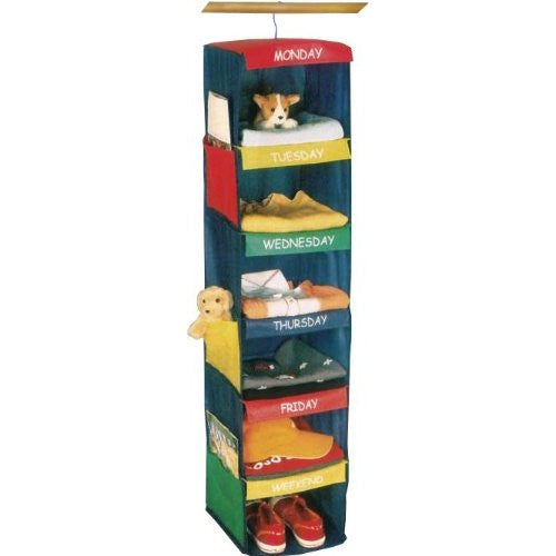 Innovative Home Creations Days of the Week Closet Organizer for Kids w/ Colorful Labeled Compartments - ArtsiHome