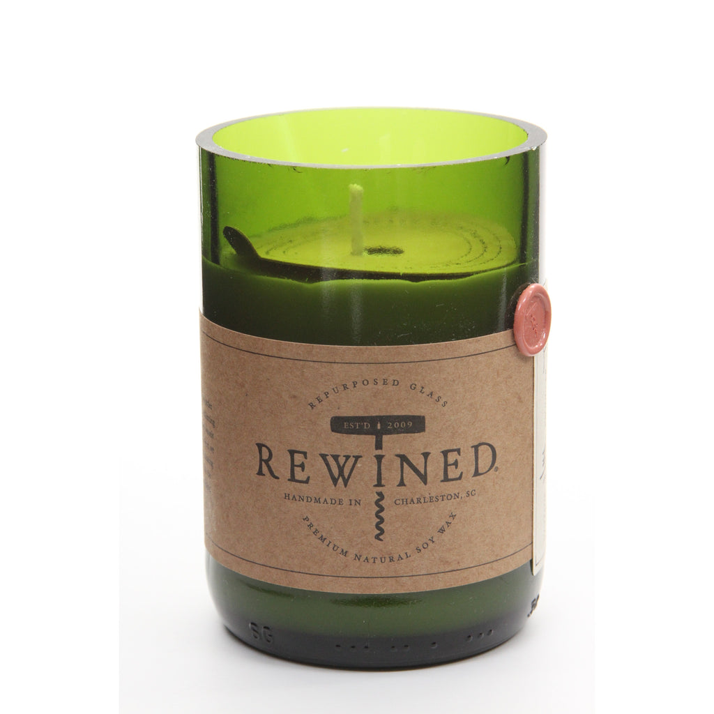Rewined Recycled Wine Bottle Soy Wax Candle w/ Merlot Scent - ArtsiHome