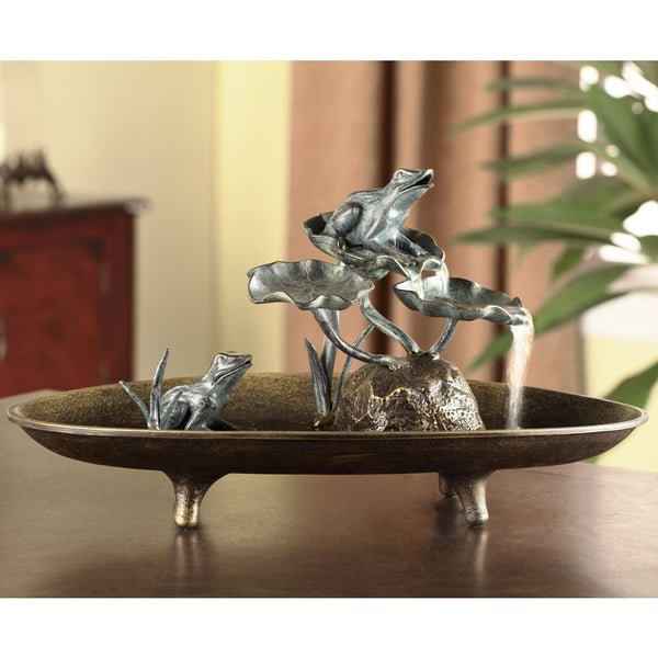 SPI Home Collection Frog Couple Table Fountain - ArtsiHome