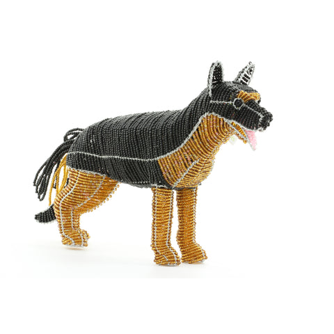 Glass Roots Creations German Shepherd Beaded Sculpture - ArtsiHome - Grass Roots Creations - 7