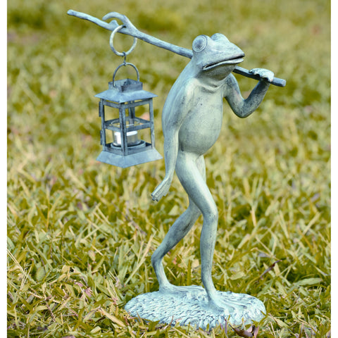 SPI Outdoor Collection Aluminum and Iron Walking Frog Lantern - ArtsiHome