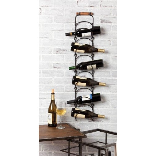 Gifted Living Hanging Metal Bottle Rack - ArtsiHome