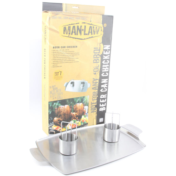 Man Law Beer Can Chicken double roaster - ArtsiHome