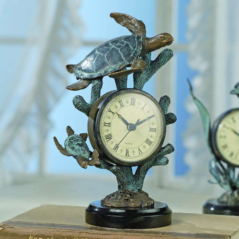 SPI Nautical and Decorative Sea Turtle Clock - ArtsiHome