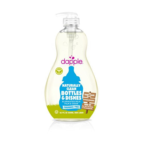 Dapple Fragrance-Free Baby Bottle & Dish Liquid 16.9 oz - ArtsiHome