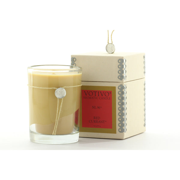 EXCLUDED FROM COMMINGLING Votivo Aromatic Candle Red Currant Scent (6.8 oz) - ArtsiHome