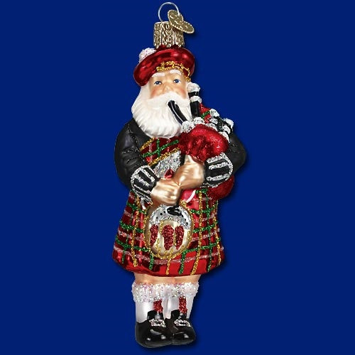 Old World Christmas Highland Santa Ornament - ArtsiHome