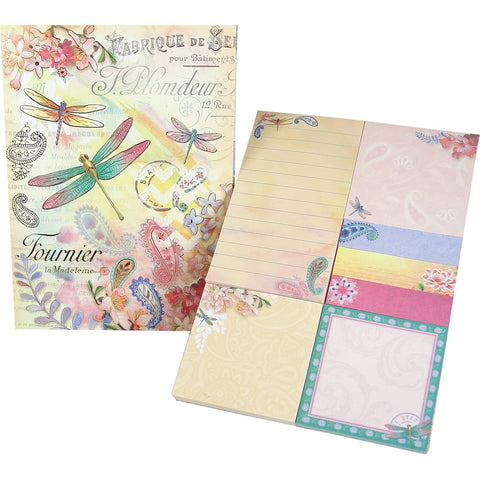 Punch Studio Dragonflies Ephemera Sticky Notes Pad Portfolio
