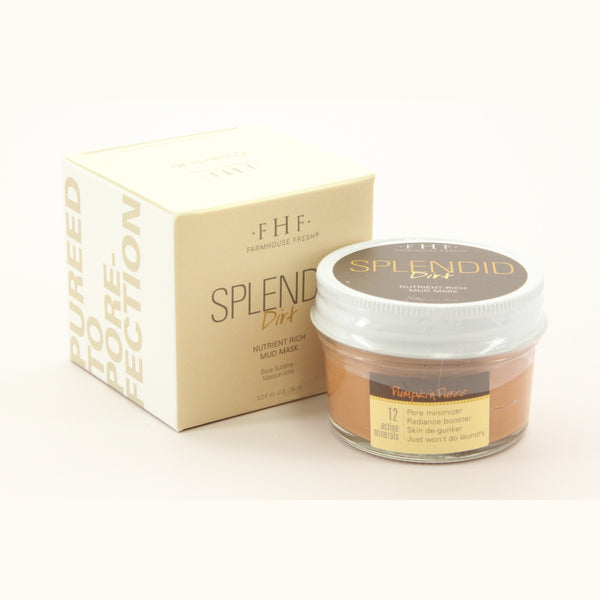 Splendid Dirt Mud Mask - Pumpkin Jar Size 3 oz Net Wt 3.25 oz - ArtsiHome