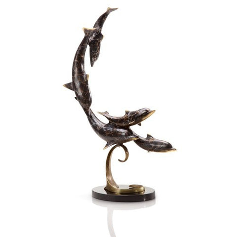 SPI Home Collection - Diving Dolphin Quintet Statue [Kitchen] - ArtsiHome