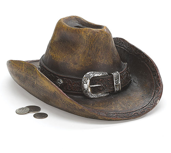 Burton and Burton Western Hat Piggy Bank - ArtsiHome