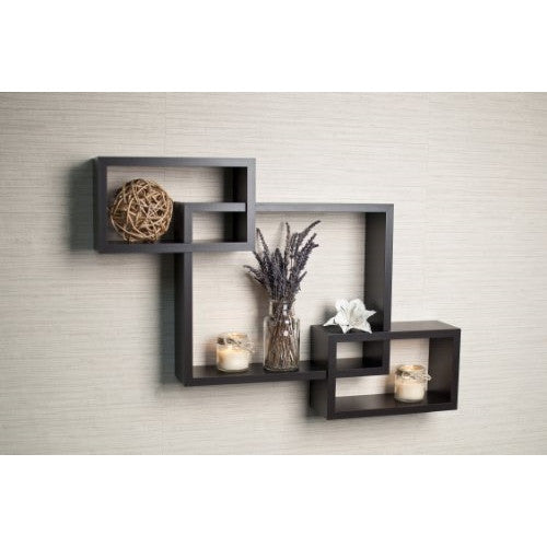 Danya B. Black Intersecting Wall Shelf - ArtsiHome
