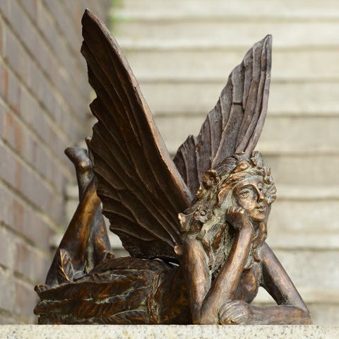 SPI Garden Collection - Resting Fairy Garden Sculpture - ArtsiHome