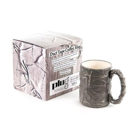 Duct Tape Mug, Gift Box, Ceramic, 4.5in - ArtsiHome