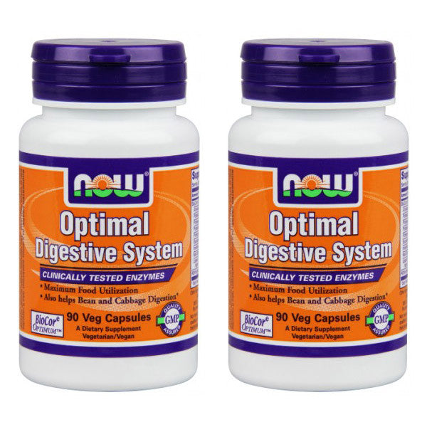 NOW Foods Optimal Digestive System, 90 Vcaps (2 bottles of 90) - ArtsiHome