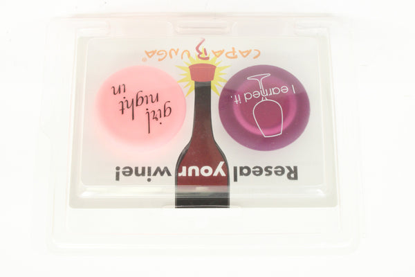 The Reusable Silicone Wine Stopper by Capabunga- I Earned It/Girl Night In - ArtsiHome