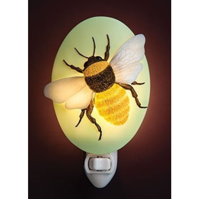 Big Bee Night Light - Ibis & Orchid Designs Flowers of Light Collection - ArtsiHome