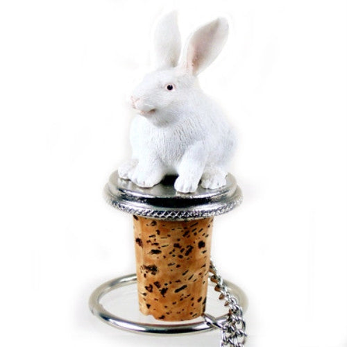 White Rabbit Bottle Stopper - ArtsiHome - Conversation concepts