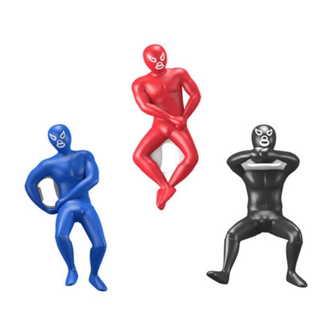 Kikkerland Luchador Bottle Opener, Assorted Colors and Styles - 3 Pack - - ArtsiHome