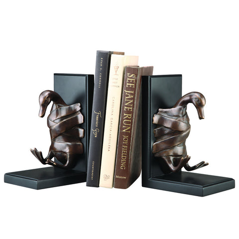 SPI Duck Taped Brass and Iron Bookends - ArtsiHome