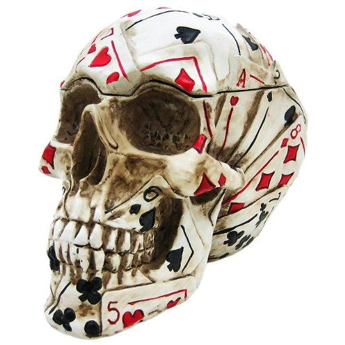 Poker Skull Stash Box / Container Playing Cards - ArtsiHome