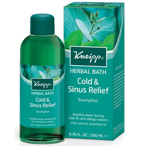 Kneipp HERBAL BATH With Natural Essential Oils EUCALYPTUS Sinus Relief 200ml - ArtsiHome