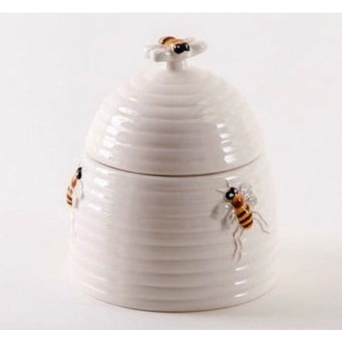 Ceramic Bee Sugar Bowl w/Lid Set - ArtsiHome