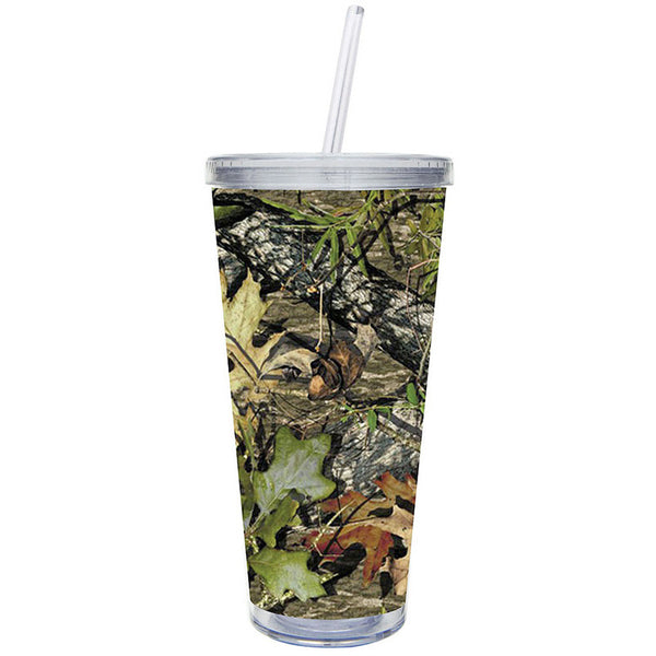 Cypress Home 20-Ounce Insulated Cup With Lid and Straw, Camouflage - ArtsiHome