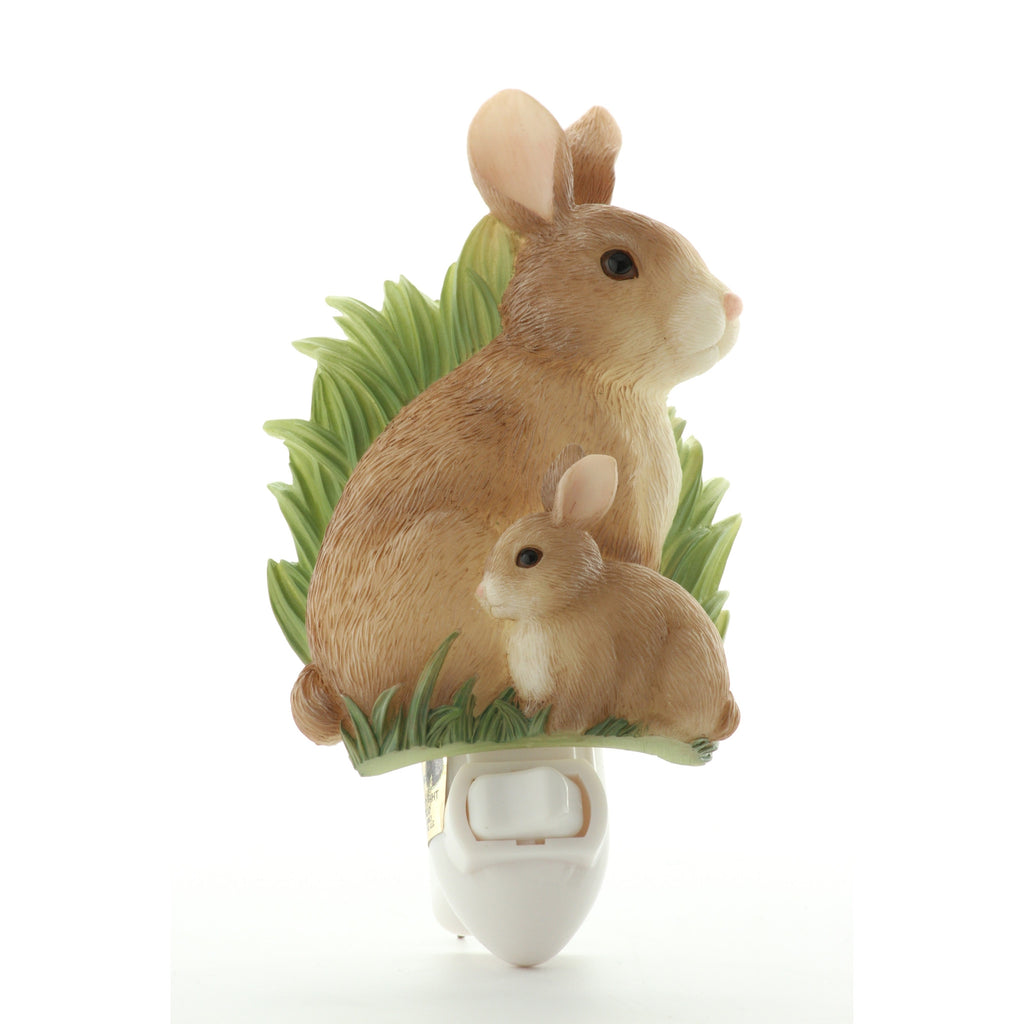 Bunnies Night Light, Ibis & Orchid Nightlights, NIB, 50082 - ArtsiHome