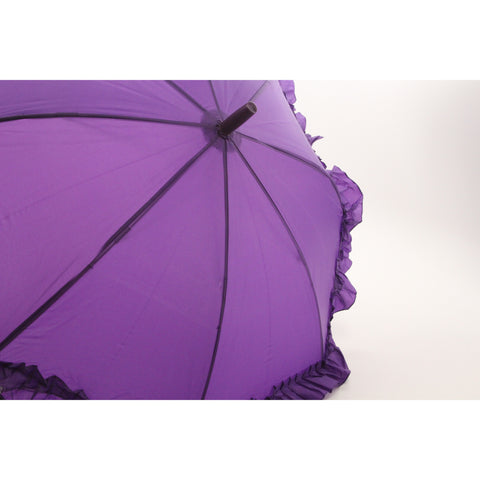Galleria Kid's Ruffle Umbrella - Purple (Kids Ruffle-Purple) - ArtsiHome