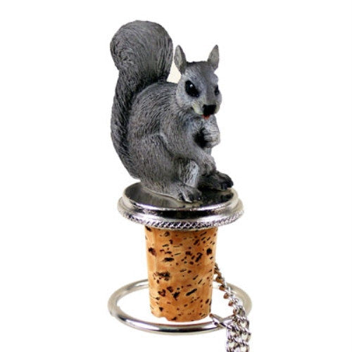 Squirrel Bottle Stopper - Gray - ArtsiHome