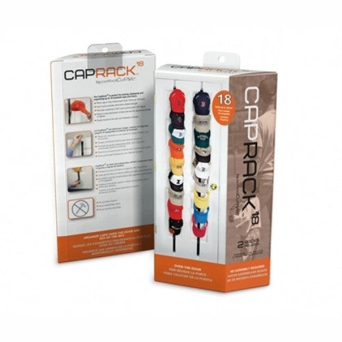 CapRack18 - Baseball Cap Holder (Black) - ArtsiHome