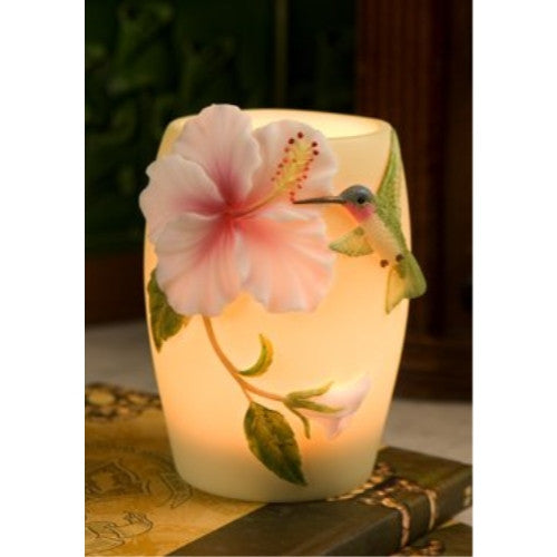 Hibiscus & Hummingbird Night Lamp, Ibis & Orchid Nightlights, NIB, 55004 - ArtsiHome - Ibis&Orchid