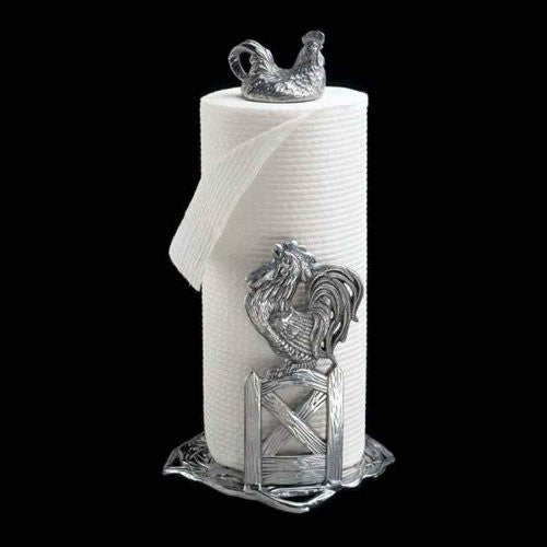 Arthur Court Rooster Paper Towel Holder - ArtsiHome