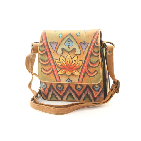 Anuschka Hand Painted Leather Purse Bag Spades Card Ilkat - ArtsiHome