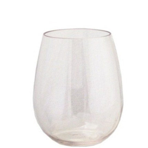 Leadingware Clear Wine Glass 16 Oz. Unbreakable Bpa-free Tritan Plastic Stemless - ArtsiHome