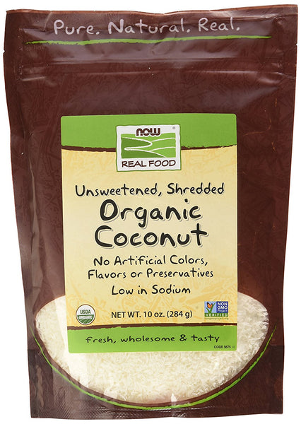 NOW Foods Organic - Coconut Shred, Unsweet-10 oz, 2 pk
