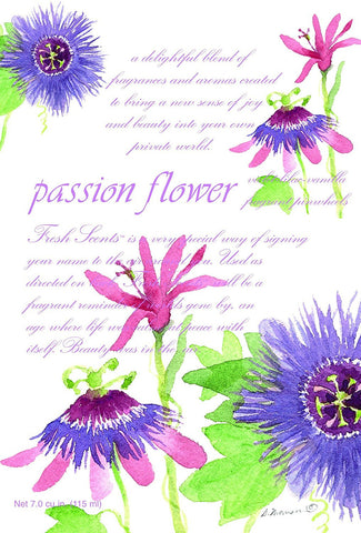 Fresh Scents Scented Sachets - Passion Flower, Lot of 6