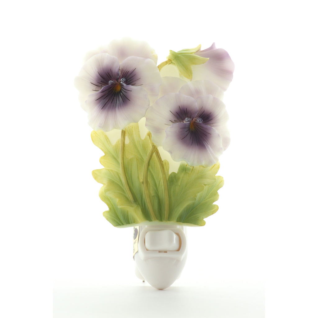Pansy Night Light, Ibis & Orchid Nightlights, NIB, 50017 - ArtsiHome