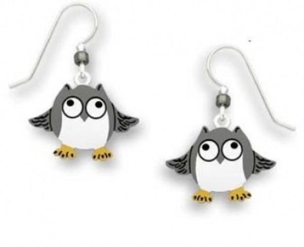 Sienna Sky Whimsical Frazzled Owl Earrings - ArtsiHome - Sienna Sky