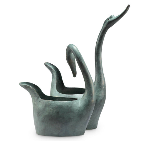 SPI Garden Collection Swan Sweethearts Fountain and Planter - ArtsiHome