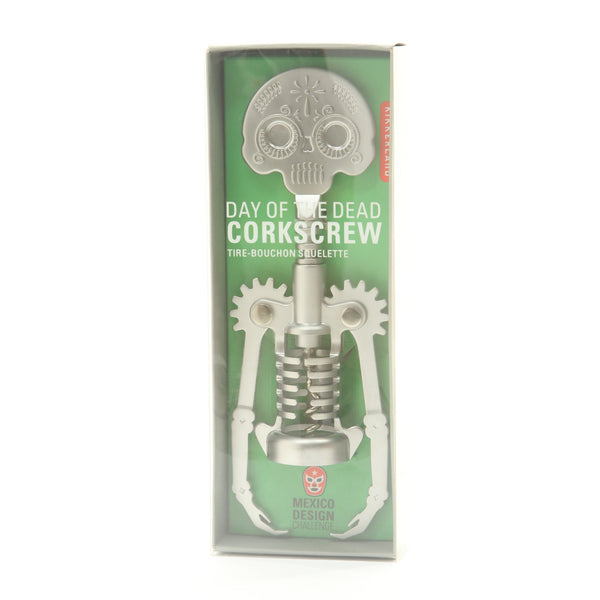 Kikkerland Day Of The Dead Skeleton Skull Corkscrew Halloween - ArtsiHome