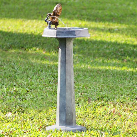 SPI Thirsty Squirrel Garden Fountain - ArtsiHome