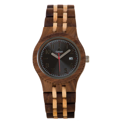 Tense Men's Watch Zebrawood Two-Tones (Hypoallergenic) - ArtsiHome