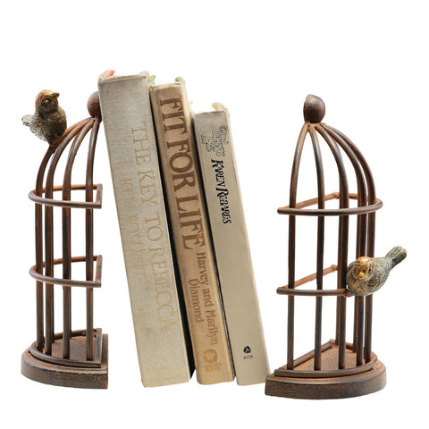 Spi Home Bird Cage Bookends - ArtsiHome - SPI Home